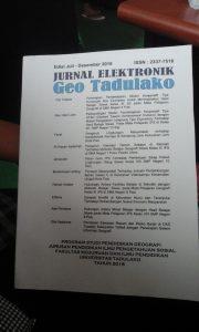 Jurnal Elektronik Geo Tadulako Edisi Juli-Desember 2016