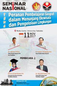 Baliho Kegiatan Seminar NAsional Program Studi Pendidikan Geografi FKIP Untad